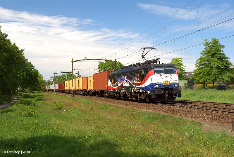 LTE 189.212 container trein Rijen de 5 eiken 12.05.2018
