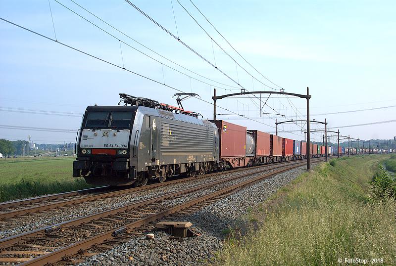 SBB 189 094 containertrein Wieldrechtse Zeedijk 26.05.2018