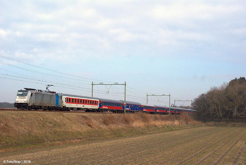 TRAXX 186 456-0.04 Alpen Express Hillegom 04.03.2018